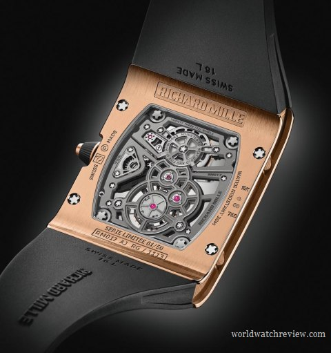 Richard Mille RM 017 Tourbillon Extra Flat hand-wound watch (transparent case back)