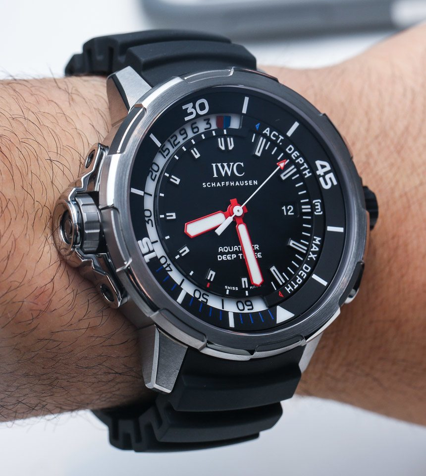 IWC Aquatimer Deep Three Depth Gauge Watch Hands-On Hands-On