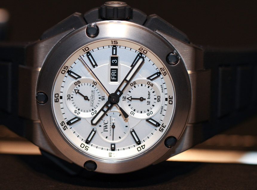 IWC Ingenieur Double Chronograph Titanium Watch Hands-On Hands-On