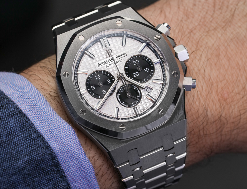 4cbe1a2b06f Discount Audemars Piguet Royal Oak Chronograph Watch In Steel Hands ...